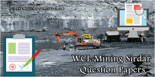 WCL Mining Sirdar Previous Papers PDF | Western Coalfields Clerk Model Questions Papers