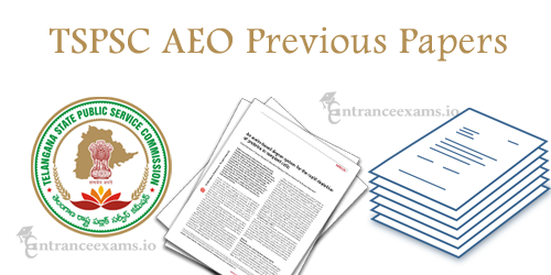 TSPSC Agricultural Extension Officer Previous Papers Pdf   Telangana AEO Exam Model Papers
