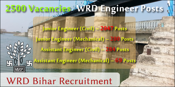 Bihar Water Resource Department JE Recruitment 2017   Apply for WRD Bihar Engineer Vacancy