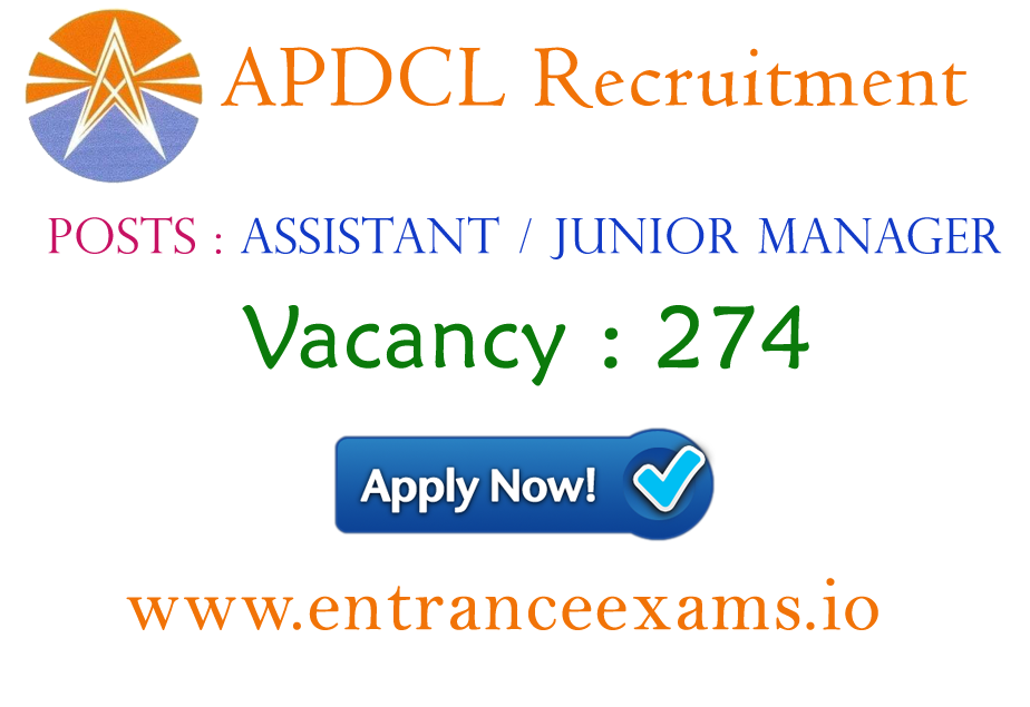 APDCL, AEGCL & APGCL Recruitment 2017 | 274 Assistant Manager & Jr Manager Posts @ apdcl.org