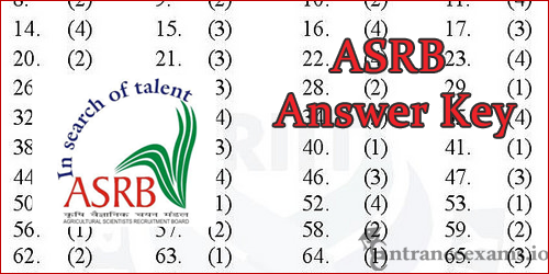 ASRB Steno Answer Key 2017 | ICAR ASRB Lower division Clerk Exam Solved paper