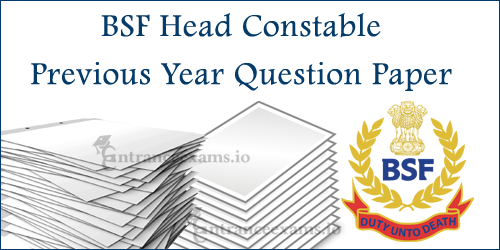 Border Security Force HC Model Papers | BSF Constable Exam Question Papers   www.bsf.nic.in