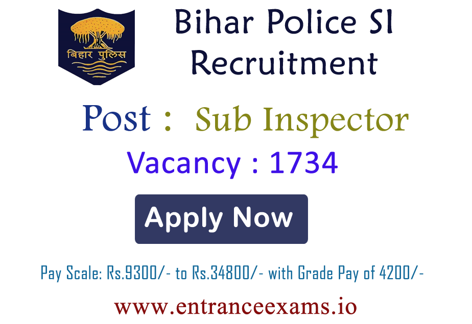 Bihar Police Sub Inspector Recruitment 2017 | Apply for 1717 Bihar Daroga Vacancy @