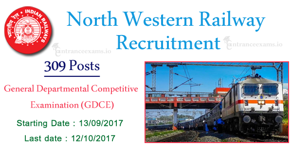 RRC NWR Recruitment 2017 | 307 Asst Loco Pilot Goods Guard JE Jobs @ www.nwr.indianrailways.gov.in