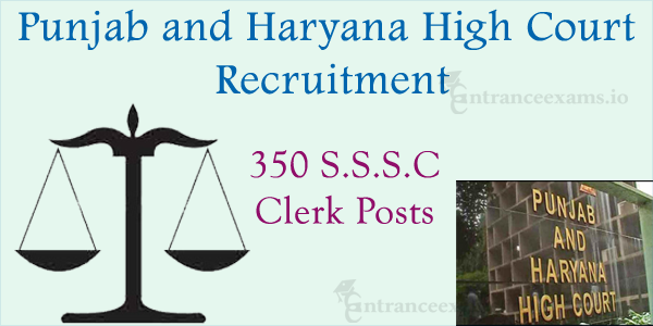 Punjab & Haryana High Court Recruitment 2017   589 S.S.S.C Stenographer and Clerk Jobs @ sssc.gov.in