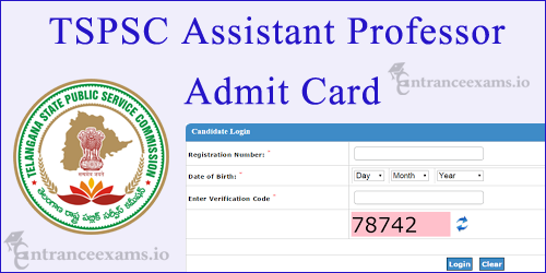 DME Telangana Assistant Professor Admit Card 2017   tspsc.gov.in Asst Professor Exam Date