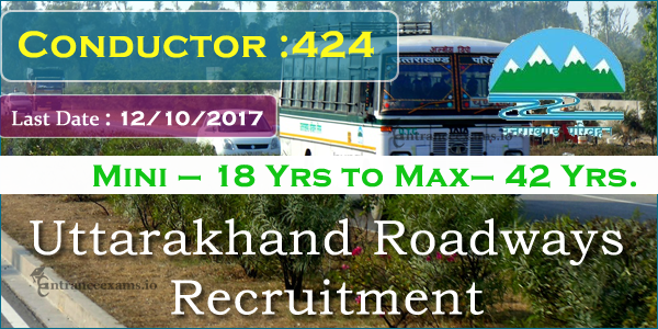 Uttarakhand Transport Corporation Recruitment 2021 | Apply for 424 Conductor Jobs @ transport.uk.gov.in