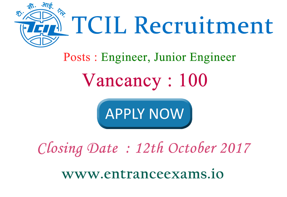 Telecommunications Consultants India Recruitment 2017 | Apply for 210 JE, Labor, Driver Posts @ www.tcil india.com