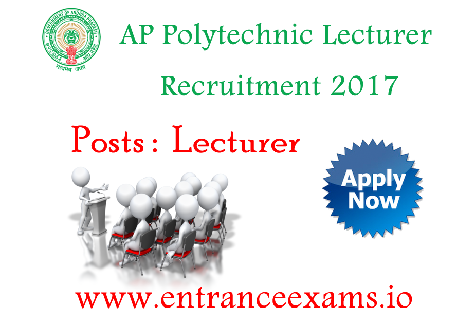 AP Polytechnic 2017 Notification   Apply for APPSC Polytechnic Lecturers Jobs @ www.psc.ap.gov.in