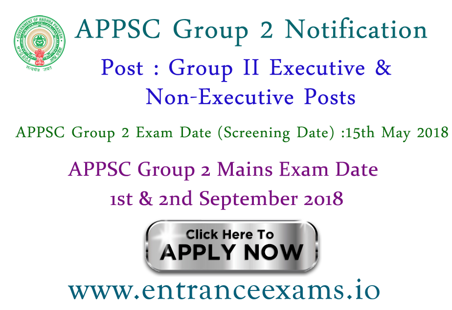 Group 2 APPSC Notification 2017 18 | Andhra Pradesh PSC Group 2 Services Posts