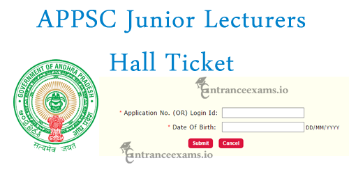 Andhra Pradesh Government Junior Lecturers Hall Ticket 2017 | APPSC JL Exam Date