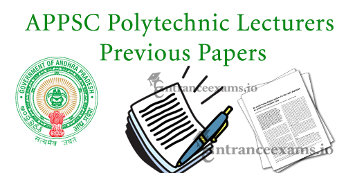 Download APPSC Polytechnic Lecturers Previous Question Papers