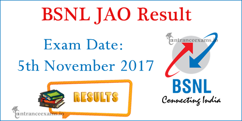 BSNL JAO Result 2017   BSNL JAO Exam Merit List, Qualifying Marks