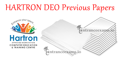 Download HARTRON Data Entry Operator Old Question Papers, Model Papers