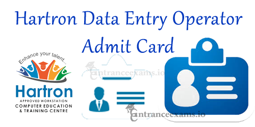 Hartron DEO Admit Card 2017 Download Steps | HIL Data Entry Operator Exam Date