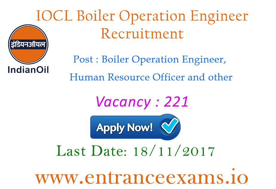IOCL Boiler Operation Engineer Recruitment 2021   221 Latest IOCL Jobs
