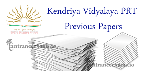 KVS PRT Previous Year Question Papers | Kendriya Vidyalaya PGT TRT PRT Model Papers
