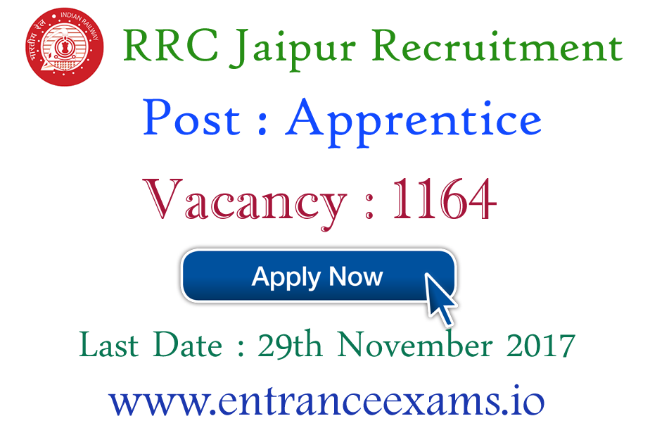 RRC North Western Railway Notification 2021 out   1164 NWR Jaipur Vacancies