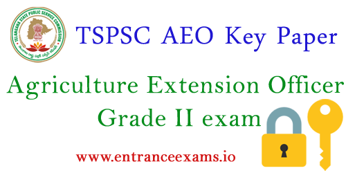 TSPSC Agriculture Extension Officer Answer Key 2017   Telangana AEO Grade II Key Paper, Solutions