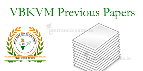Vishva Bharti Kaushal Vikas Mission (VBKVM) Previous Year Question Papers