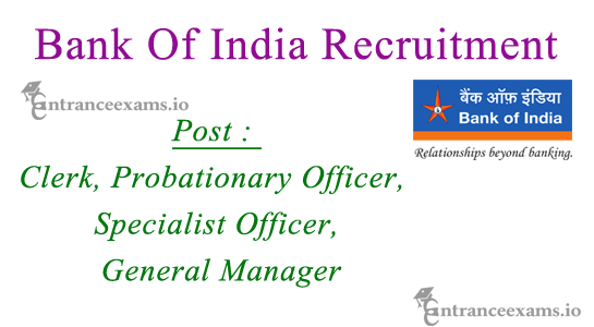 Bank of India Upcoming Recruitment 2017 2018 | Current Openings in Bank of India