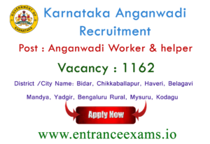 WCD Karnataka Recruitment 2017   1776 Anganwadi Worker, Helper Jobs