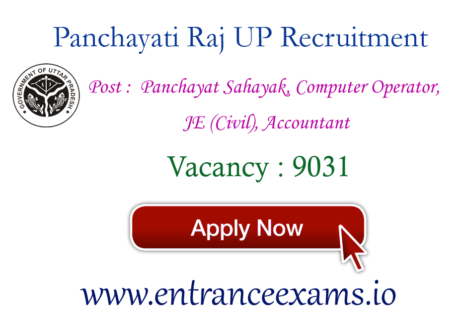 UP Zila Panchayati Raj Recruitment 2017   9031 Panchayat Assistant, Accountant posts