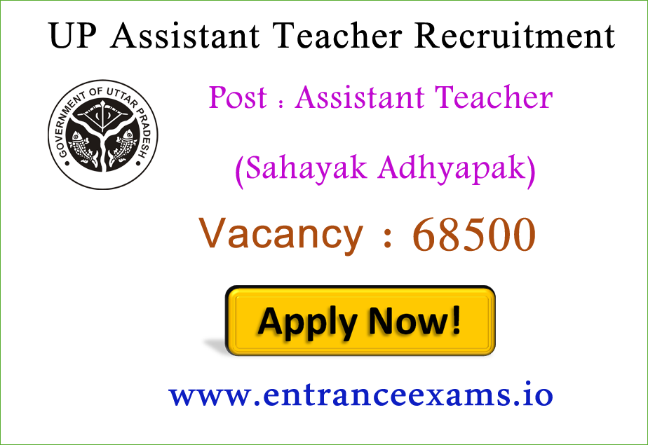 UP 68500 Asst Teacher Recruitment 2018   Apply for Primary School Teacher Vacancies